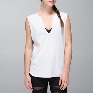 Lululemon Yogi Cut Off Tee